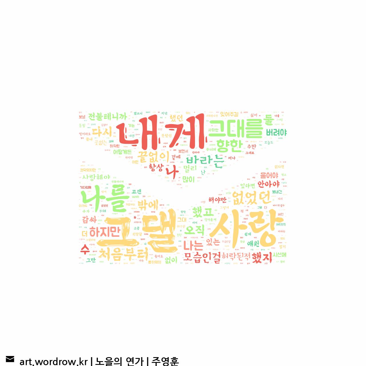 워드 클라우드: 노을의 연가 [주영훈]-26